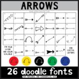 Doodle Fonts - Arrows Design Elements