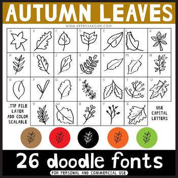 Doodle Fonts: Autumn Leaves