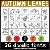 Doodle Fonts - Autumn Leaves