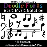 Doodle Fonts Basic Music Notation (for Personal and Commercial Use)