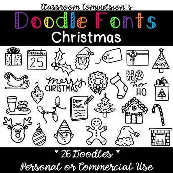 Doodle Fonts Christmas (for Personal or Commercial Use)