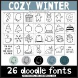 Doodle Fonts - Cozy Winter