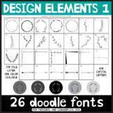 Doodle Fonts - Design Elements Set 1
