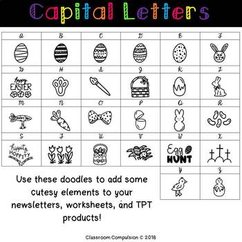 Doodle Fonts Easter (for Personal or Commercial Use)