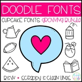 Doodle Fonts Growing Bundle (Personal/Commercial)