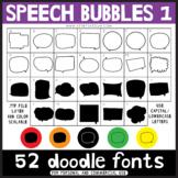 Doodle Fonts - Speech Bubbles