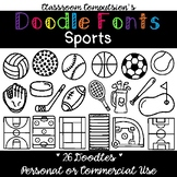 Doodle Fonts Sports (for Personal and Commercial Use)