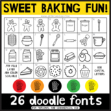Doodle Fonts - Sweet Baking Fun