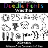 Doodle Fonts Weather (for Personal or Commercial Use)