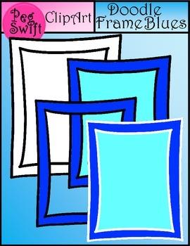 Doodle Frame Blues Clip Art ~ FREE