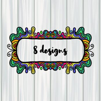 Doodle Frame Border Clip Art Set