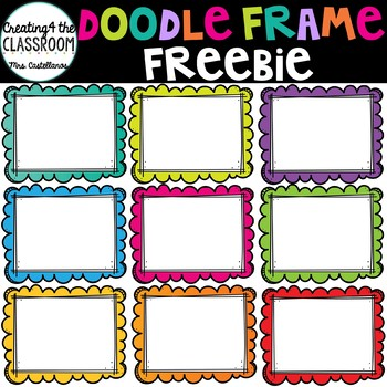 Doodle Frame Clip Art Freebie {Free Clip Art}