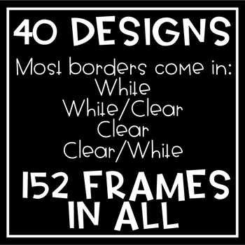 152 Doodle Borders // Mini Set BUNDLE // Frames for Commercial Use