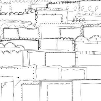 152 Doodle Borders // Mini Set BUNDLE // Frames for Commercial Use