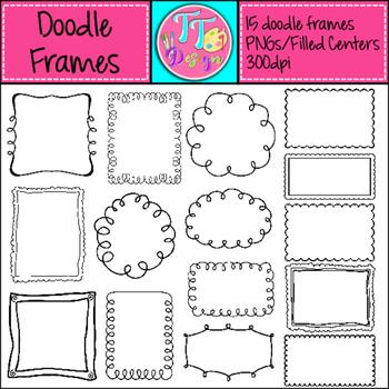 Doodle Frames Clip Art CU OK