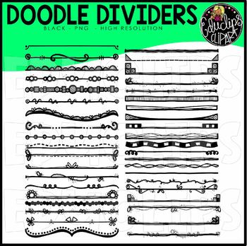 Doodle Frames Clip Art Super Bundle (Hand Drawn Borders, Frames & Dividers)