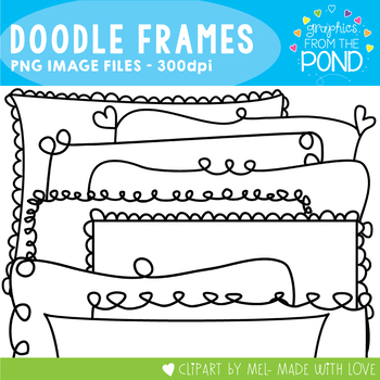 Frames - Doodle Frames - Clipart Graphics Borders for Commercial Use