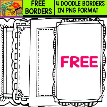 Free borders - Set 2 - 4 Items