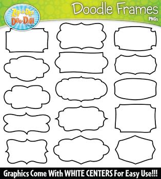 Doodle Frames Clipart Set {Zip-A-Dee-Doo-Dah Designs}