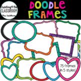 Doodle Frames {Frames Clip Art} 75 frames