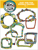 Doodle Frames: Just For Fun, Color and Lined-Set 4