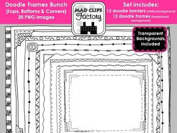 Doodle Frames {Tops, Bottoms & Corners}