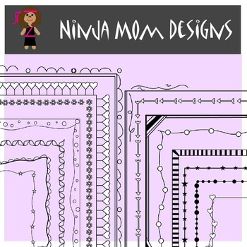 Doodle Frames and Borders Clip Art- Ink Saving