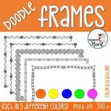 Doodle Frames and Borders Clip Art Set