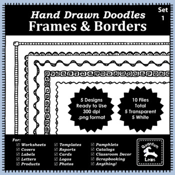 Doodle Frames and Borders Set 1