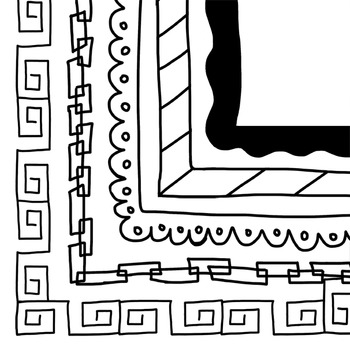 Doodle Frames and Borders clipart - Set 2