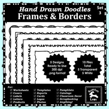Doodle Frames and Borders Set 3