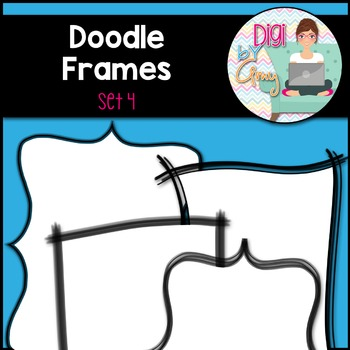 Doodle Frames and Borders Clip Art