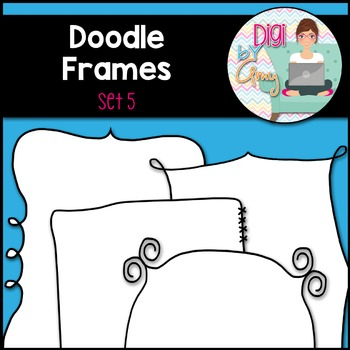 Doodle Frames and Borders clipart - Set 5
