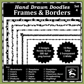 Doodle Frames and Borders Set 4