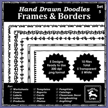 Doodle Frames and Borders Set 5