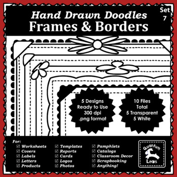 Doodle Frames and Borders Set 7