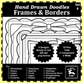 Doodle Frames and Borders Set 8