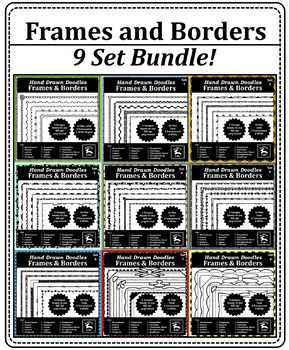 Doodle Frames and Borders - Super Pack of all 45 Designs!!