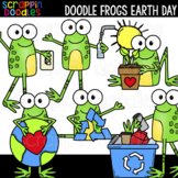 Doodle Frogs Earth Day Clipart {Scrappin Doodles Clipart}