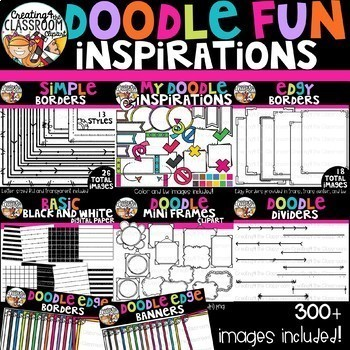 Doodle Fun Inspirations Bundle {Sellers Clipart}