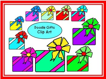 Doodle Gifts~Presents Clip Art