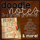 Doodle Grammar Notes: 3rd Grade Grammar Worksheets