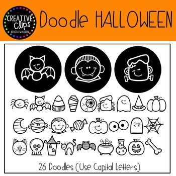 Doodle Halloween FONT {Creative Clips Clipart}