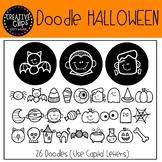 Doodle Halloween FONT {Creative Clips Clipart}