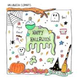 Doodle Halloween Themed Clip Art