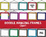 Doodle Hanging Frames ClipArt - Hand Drawn Hanging Frames