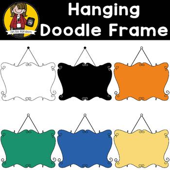 Doodle Hanging Signs {Clip Art for CU}