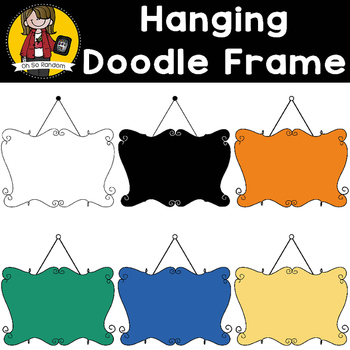 Doodle Hanging Signs {Clip Art for CU}