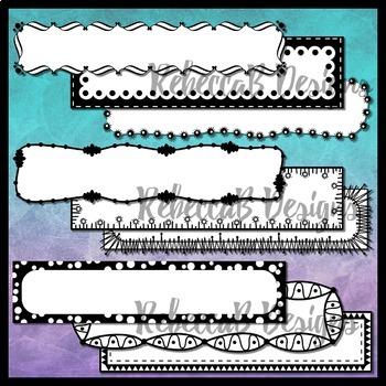 Doodle Headers Clip Art Set 2