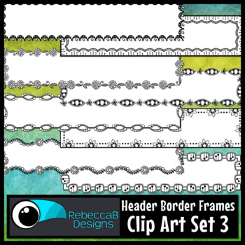 Doodle Headers Clip Art Set 3